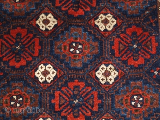Antique Baluch rug from Khorassan region of Eastern Persia with a well drawn mina khani lattice design. www.knightsantiques.co.uk   Size: 5ft 5in x 2ft 11in (164 x 90cm).  Circa 1900.  A good Baluch rug with  ...