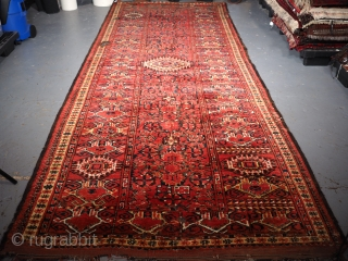 ***£995*** Antique Beshir Turkmen Kelleh, 410 x 155cm. Some wear and damages, suitable for restoration hence the price. www.knightsantiques.co.uk