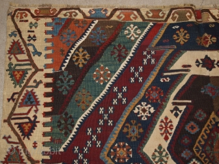 Antique Turkish Malatya kilim with excellent design and colour. www.knightsantiques.co.uk Size: 11ft 6in x 5ft 5in (350 x 164cm). 
