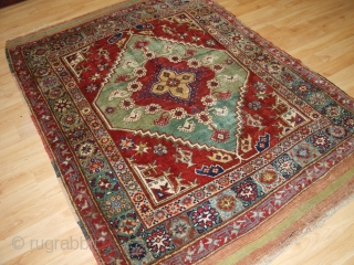 Antique West Anatolian rug from the small village of Dazkiri which lies on the road from Denizli to Sparta. www.knightsantiques.co.uk Size: 6ft 7in x 4ft 11in (200 x 150cm).   Circa 1900.  The rug  ...