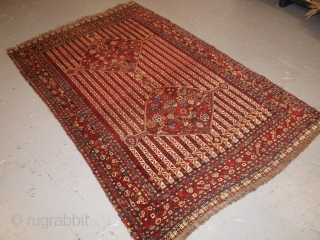 Interesting Khamseh rug, cane design with two superb medallions. www.knightsantiques.co.uk