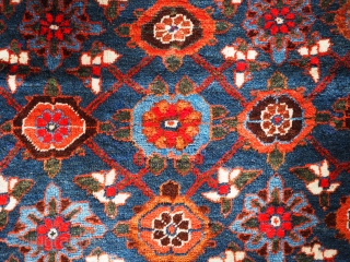 A superb Antique Varamin region kelleh (long rug) with mina khani design. click the link www.knightsantiques.co.uk to view more items.  Circa 1900 Size: 9ft 8in x 4ft 11in (295 x 150cm).  The ground colour  ...