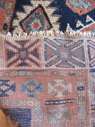 Jaf Kurd rug of good age. 19th C. Floppy, good color. Approx 4.6 x 7.