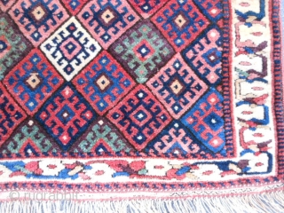 Persian Jaf Kurd bag face, late 19th century, 1-8 x 2-4 (.51 x .71), very good condition, original ends and edges, full pile, rug was hand washed, plus shipping.