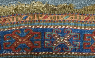 Karabagh Mafrash Side Panel, 19th Century.  Excellent colors with no chemical dyes.  Beautiful, balanced composition.  60 x 52 cm