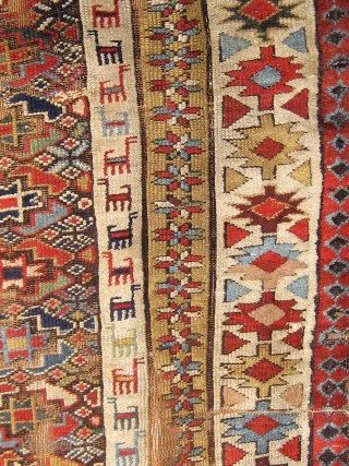 """Beautiful large fragmented mid 19th Century Kurdish long rug.  Approximately 52"""" by 128"""".  Please ask for additional photos."""