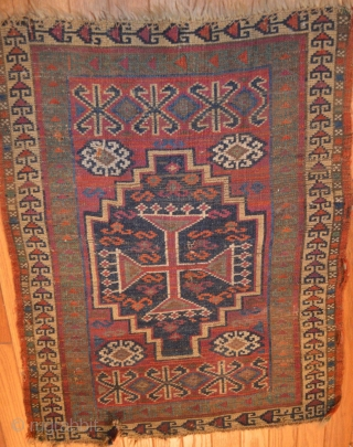 Antique 19th Century East Anatolian yastik, all dyes appear natural, original sides, ends slightly reduced, mostly full pile, great array of colors.  Please ask for additional photos.