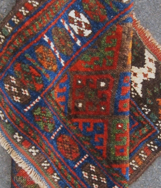 Antique Jaff Kurdish bag face.  Nothing to apologize for.  Original ends and sides.  All dyes appear natural, including a couple of shades of apricot.  Please ask for additional  ...