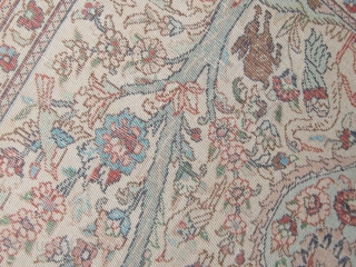 """Joyful animals frolicking all over this extremely finely knotted Hereke silk prayer rug with tree of life design, circa mid 20th century, in lovely condition.  30"""" by 48"""".  Fresh from  ..."""