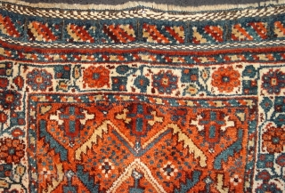 Meaty Khamseh bag front, beautiful colors and condition, piled closure system, circa 1925.  Please ask for additional photos if needed.