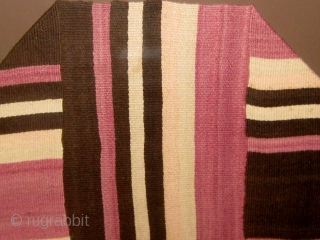 """19th Century Rio Grande textile, just purchased from an estate in Charlotte NC.  This piece came to me framed under glass.  It measures 18"""" by 74"""".  Stripes of ivory,  ..."""