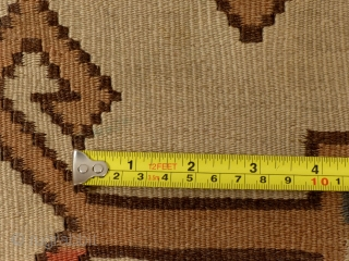 Caucasian Fachralo Kilim Prayer Rug.
