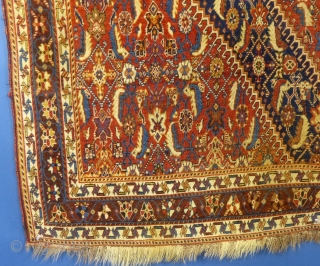 "Qashqai, c.1900+/-, 64"" X 83"", excellent condition.
