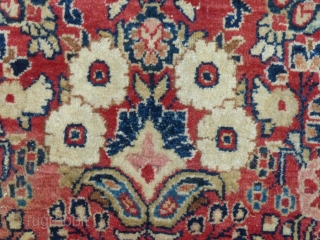 """Sarouk(?). c.1030-40, 9'8"""" X 6'1"""", Good over all but has a 3"""" tear (see picture) and a little wear. Has been washed. SOLD"""