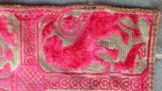 Welvet textile size:56x44-cm please ask