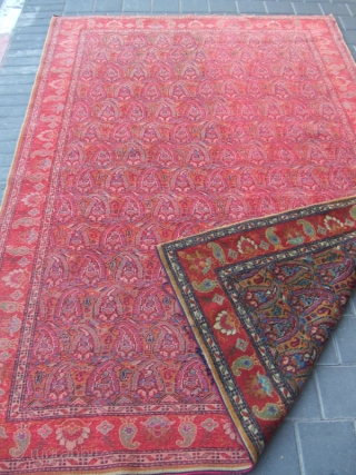 ORIGINAL ANTIQUE TURKISH CARPET HAND WOVEN