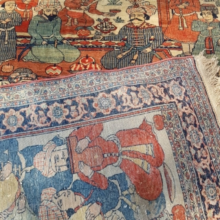 Fine, top quality Isfahan pictorial Rug.  very good condition   Circa 1900  Size: 203146 CM  P.O.R