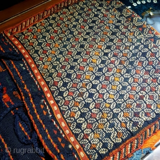 Antique Qashqaee saddelbag  Size:86x46 cm  $650