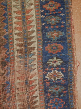 5'2''x7'3'' distressed kurd Jaff 