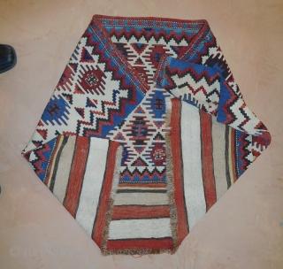 Wonderful Caucasian fine Kilim Panel 19th century  All Natural dyes  31''x45''