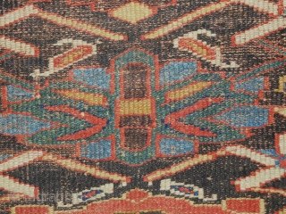 3.6x8 early kurdish rug  it appears that it has a rewoven ends and sides