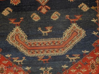 Central Persian saddle 30''x40'' superb condition  re woven corner about 1'' square