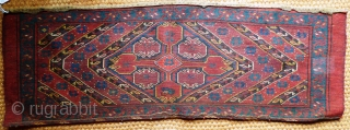 Beshir Torba Turkmenistan Wool on Wool. Late 19th Century, Excellent condition. Even full pile. No fading or repair. Size: 3ft 6 in X 1 ft 3 in1.07 m X 0.37 m