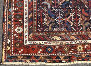 Early Afshar rug.....about 1890-1900.....approx. 3.7 x 4.5......checks drawn on U.S. banks preferred......please ask.....