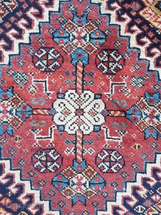 Qashqai khorjin complete. fine weaved kilim and sumakh; soft colors, crisp design. some little spots without pile.