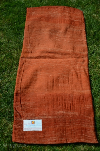 """Rare antique Kordi flatwoven khorjin.1'8-1/2""""X4'2"""". Circa 1900. Wool. Saturated natural dyes. Knotted weft wrapping from Lain district of Khorasan. For comparable example see Wilfried Stanzer's """"Kordi"""" pp. 182-183. Perfect condition. Ex Adil  ..."""