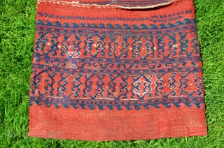 "Rare antique complete Yüncü kilim (farda) heybe. Late 19th c. Wool. Saturated patinated natural dyes. Very good condition. Published in the bible of West Anatolian heybes by Bieber, Pinkwart and Steiner ""Heybe"".  ..."