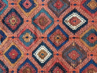 Antique East Anatolian rug, from 2nd half of the 19th century, no repairs, oxidation to brown.