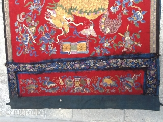 Chines textile  Size: 0,88 x 090 .