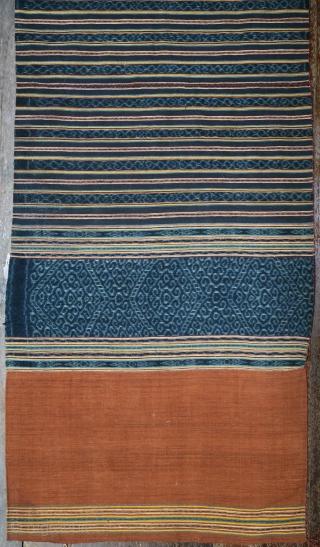 Indonesia   Timor vintage ikat skirt tais marobo   Indonesia, Timor, Malaka, Tetun people, third quarter of 20th century   Handspun cotton base, botanical indigo and aniline dyes, warp ikat, warp float    The  ...