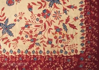 c. 1900 Javanese batik sarong  Origin: Indonesia, Java, Lasem, c. 1900   Technique: Commercial cotton, natural dyes, hand-drawn (tulis) batik   Description: A batik sarong hand-drawn in Lasem on the north coast of Java, of  ...