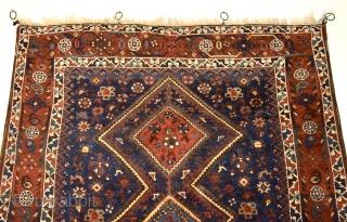 Persian Shiraz with wonderful natural colors and full pile. No damages, no repairs. 159cm x 144 cm