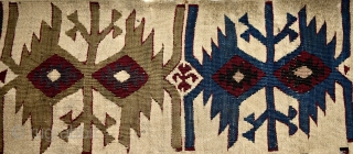 Anatolian (probably Reyhanli) kilim fragment. Magnificent saturated natural colors.