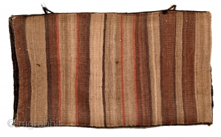 Baluch Balisht. Soft and shinny wool. Full pile, with a few blue knots. 87cm x 49cm