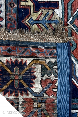 """Caucasian Lenkaron runner. Probably late 19th century. All natural colors. 352cm x 100cm/ 11' 6,58"""" x 3' 3,37"""""""