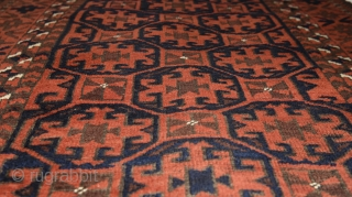 "Baluch tribal rug with classic design. 175cm x 92cm (68"" x 36"") early 20th century. All natural colors."