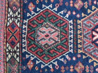 "Northwest Persian Kurdish bag, very elongated format, all natural vibrant colors.1'7""x2'3"""