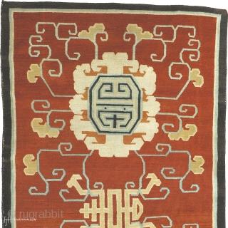 "Antique Tibetan Rug Tibet ca.1900 9'8"" x 5'2"" (295 x 158 cm) FJ Hakimian Reference #08029"