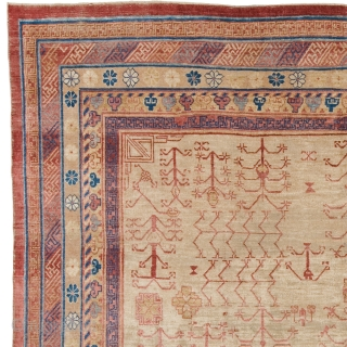 Antique Chinese Khotan Rug