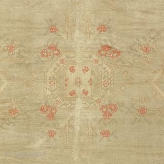 "Antique Turkish Oushak Rug Turkey ca.1900 14'10"" x 10'8"" (453 x 326 cm) FJ Hakimian Reference #04147"