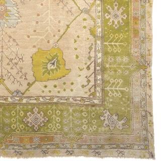 "Antique Turkish Oushak Rug Turkey ca.1900 17'5"" x 11'8"" (532 x 356 cm) FJ Hakimian Reference #04116"