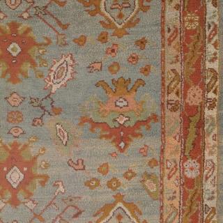 "Antique Turkish Oushak Rug Turkey ca.1900 9'7"" x 6'9"" (292 x 206 cm) FJ Hakimian Reference #04133"