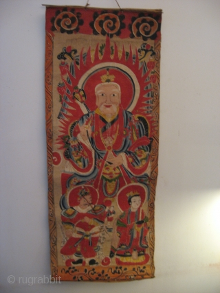Impressive Yao Taoist Pantheon, painted on paper.Complete and in very good condition.