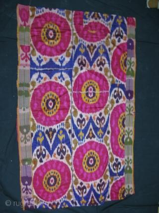 Central Asian Ikat, 194 x 122 Cm. More at: http://centralasiatextile.blogspot.com