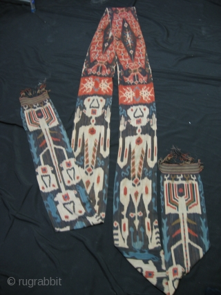 Rare, very long,  Indonesian Ikat weaving. For more info : http://indonesia-textile.blogspot.com