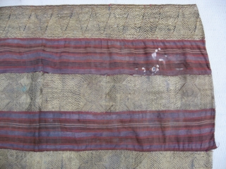 http://indonesia-textile.blogspot.com. Antique Indonesian Tappis, Size: 87 x 108 Cm. Gentle price. White candlewas spot right top has beem removed. Questions ; please ask